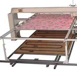 The HFJ-8 manual quilting machine is suitable for quilting patterns on duvet, mattress pad, bed cover, garments, etc. It can also quit on sponge and leather.