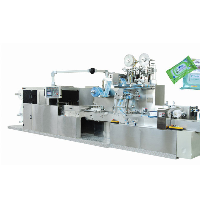 DC-2060B Full automatically hi-speed wet wipes folding and packing machine