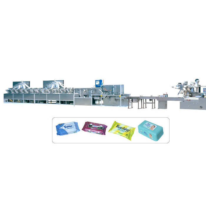 DCW-4300+KGT-340 Full automatical pillow style baby wipes making machine