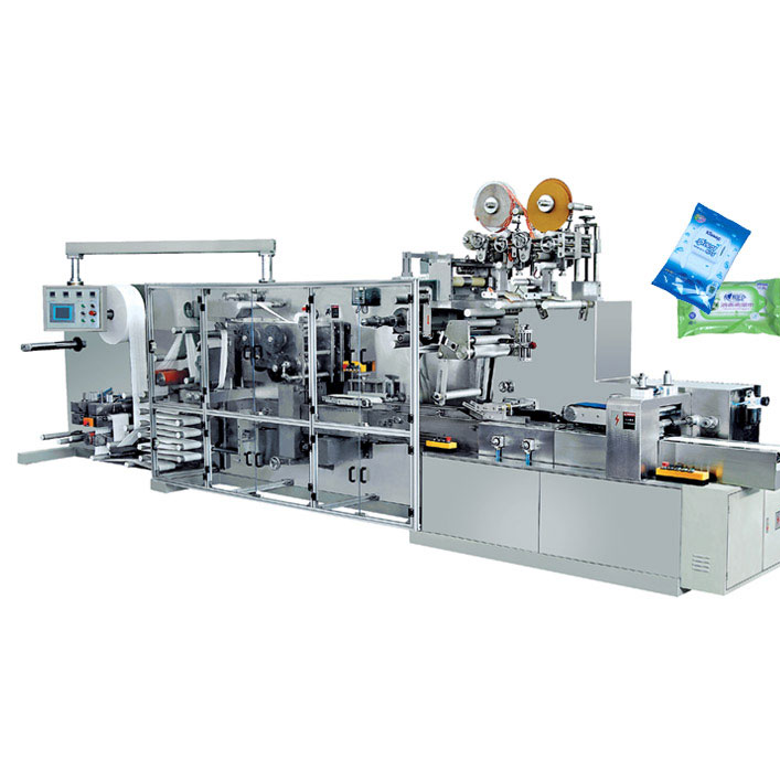 DC-2035 Full automatically hi-speed wet wipes folding and packing machine