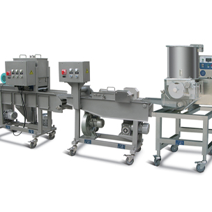 Mini Automatic Hamburger & Nuggets Forming and Coating Processing Line