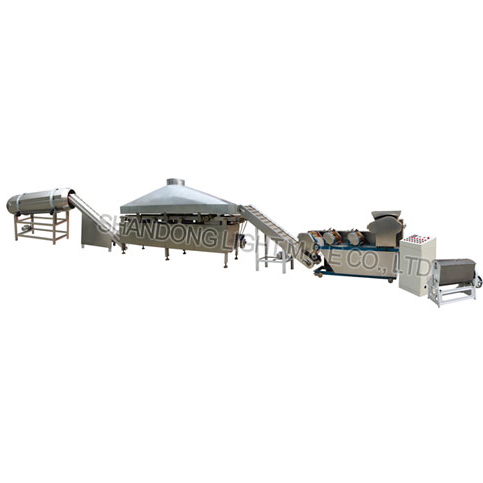 Fried flour snacks food processing line