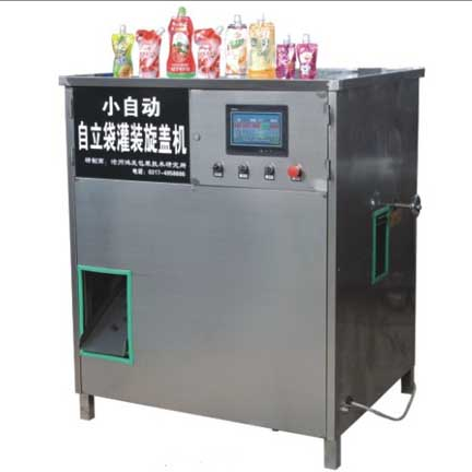 HF-ZLD-D Small Automatic Self-supporting Bag Filling Capping Machine