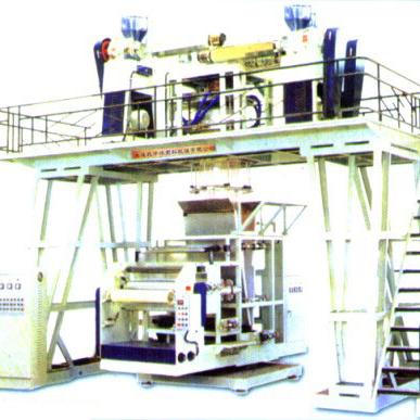 Three Layer Plastics Coextrusion down Blowing Lamination Film Line(Take-off Winding-up Rotating)