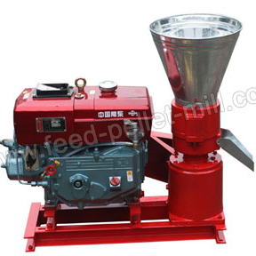 Portable Feed Pellet Machine / Diesel Flat Die Feed Pellet Mill