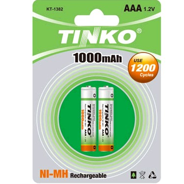 TINKO Rechargeable battery Size AAA 1000MAH