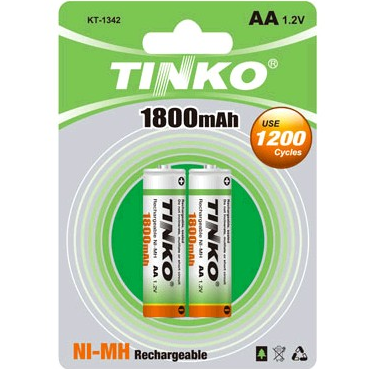 NI-MH Rechargeable Battery 1800MAH Size AA Packging in Card