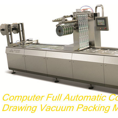 Automatic Continuous Drawing Vacuum Packaging Machine For Food