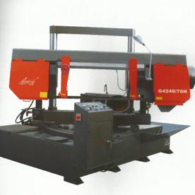 Angle cutting horizontal metal band sawing machine G4240/70H