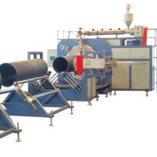 PE LARGE CAUBER HOLLOW WALL WIND PIPE PRODUCTION LINE