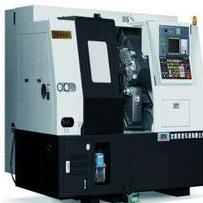 CNC lathe machine CK6432, FANUC system, Slant bed lathe