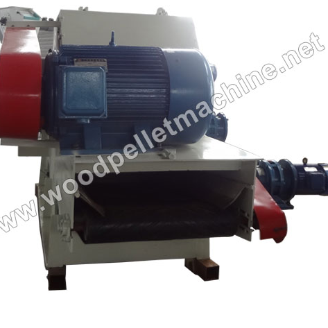 Drum wood chipper machine