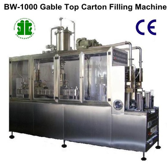 Semi-Auto Gable Top Carton Beverage Filling Machines (BW-1000)