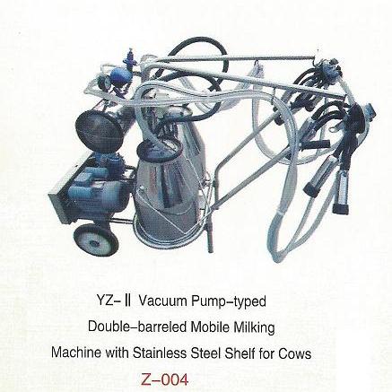 Advanced Moblie Ordeño Machine Pump-mecanografiado al vacío (doble de barriles)