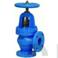 Cast iron angle globe valve