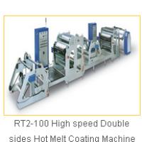RT2-100 High speed Double sides Hot Melt Coating Machine
