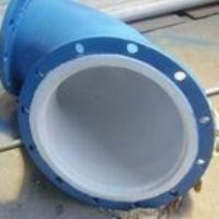 Flange steel plastic composite pipe