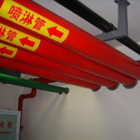 Steel plastic composite pipe for fire sprinkler