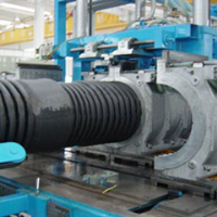 HDEP / PP Double Wall Corrugated Pipe Extrusion Line