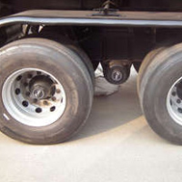 Exports to Russia single-point suspension semi-trailer