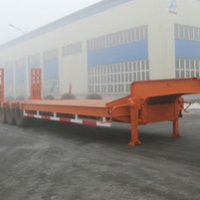Low platform, 30 tons of 40 tons, 50 tons, 60 tons of low flat-panel semi-trailer