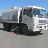 Clean sweep road car, dry wet sweep road car, road sweeper
