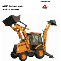 CG875 backhoe loader with Carraro axle