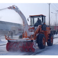 snow removal loader, snow blower vehicle, snow removal machine