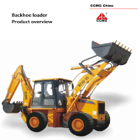 1.0 m3 backhoe loader, 2ton capacity shovel backhoe