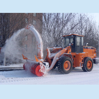 snow blower, wheel snow blower, heavy construction vehicle
