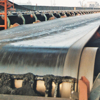 series of tubelar conveyor belt