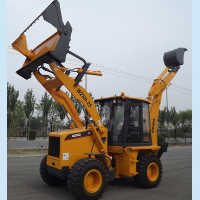 4 in 1 backhoe excavator, 4 wheel drive, cummins diesel engine