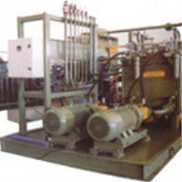 Refining furnace hydraulic station
