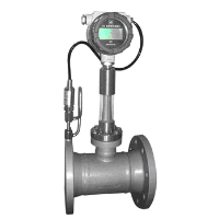 Digital target air flow meter with temperature and pressure compensation