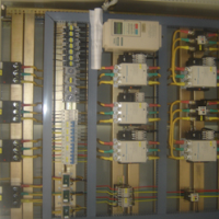 The electric control cabinet wiring