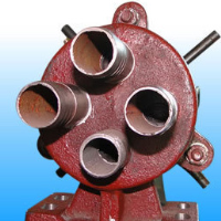 The vacuum permanent magnet filter four-way valve