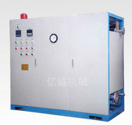 One-piece oil heater with cooling