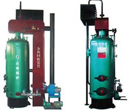 Vertical steam boiler composite waste heat recovery unit