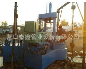 Double automatic rotating groove elbow beveling machine