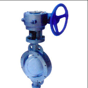 Metal hard seal butterfly valve with double clamp manually