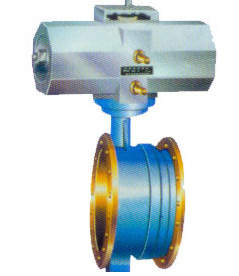 Pneumatic telescopic hard seal butterfly valve