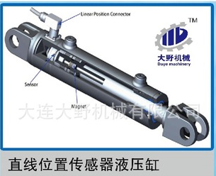 Linear position sensor for hydraulic cylinder