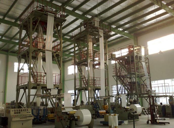 定制国内最高产量重包装吹膜机组