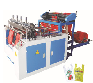 The new double color printing are computer bag making machine