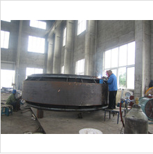 4000mm butterfly valve body welding stage