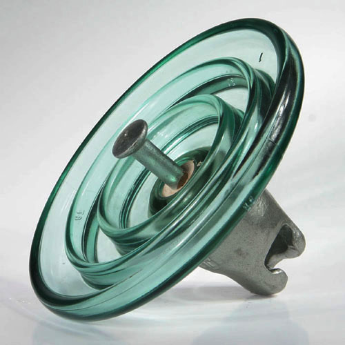 Suspension glass insulator