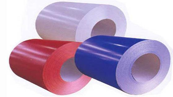 Colored steel sheet coil