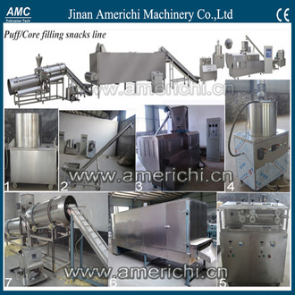 Automatic Core filling snack food machine