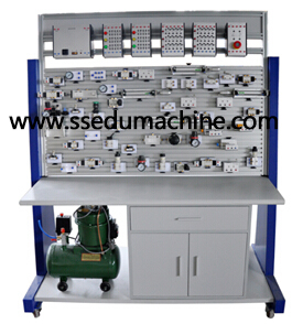 Electro Pneumatic Training Workbench Pneumatic Trainer Industrial Training Equipment