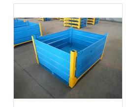 Folding steel box pallet